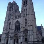 Bryssel. St. Michael och St. Gudula katedralen i Bryssel.